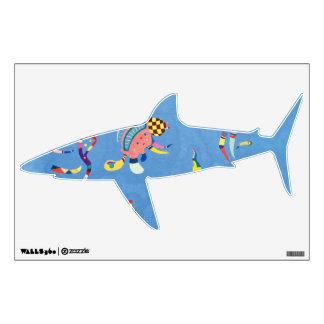 Shark in Sky Blue Wall Decal
