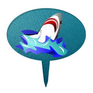 shark in the ocean cake topper