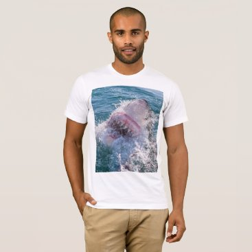 Beach Themed Shark in the water T-Shirt