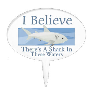 Shark In These Waters Cake Picks