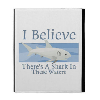 Shark In These Waters iPad Folio Covers