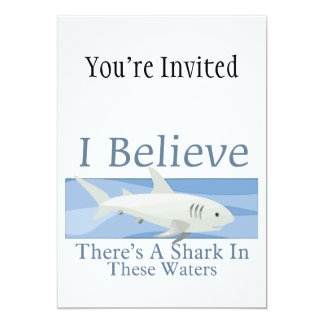 Shark In These Waters Custom Invites