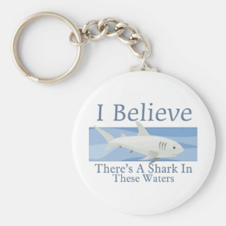 Shark In These Waters Key Chains