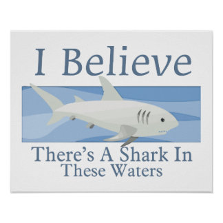 Shark In These Waters Poster