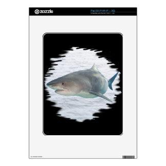 Shark in water iPad skin
