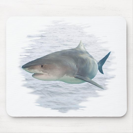 Shark in water mouse pad