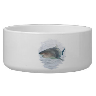 Shark in water Pet Bowl (2) sizes