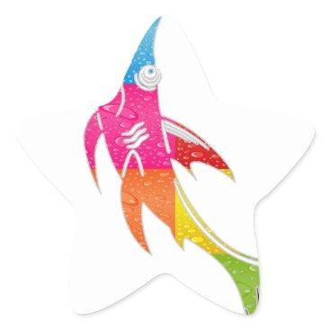 Aztec Themed SHARK INCA MAYA DRCHOS.COM 09V CUSTOMIZABLE PRODUC STAR STICKER