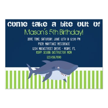Beach Themed Shark Invitation