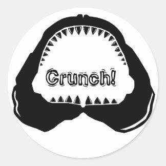 Shark Jaw Classic Round Sticker