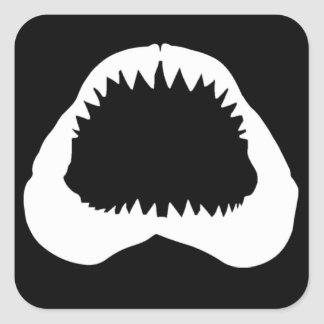 Shark Jaw Square Sticker