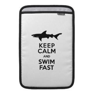 Shark - Keep Calm and Swim Fast MacBook Sleeve