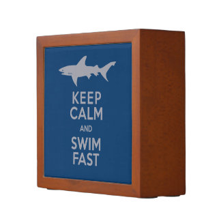 Shark - Keep Calm and Swim Fast Pencil/Pen Holder
