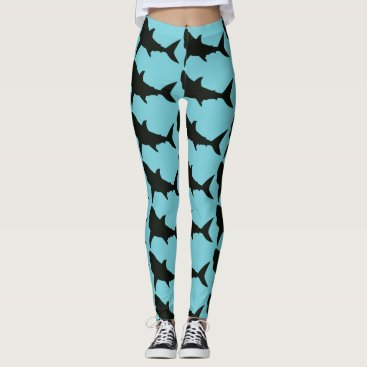 Beach Themed Shark Leggings