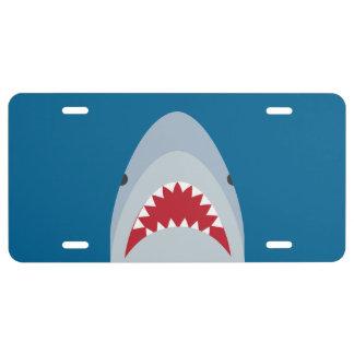 Shark License Plate