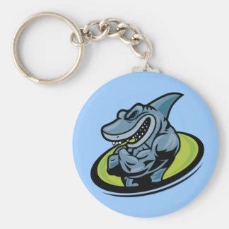 shark llavero redondo tipo pin
