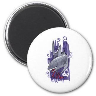 Shark LOL 2 Inch Round Magnet