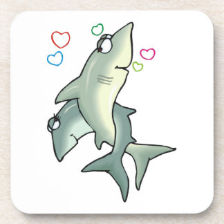 Shark Love Beverage Coaster