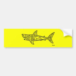 Shark Maze Car Bumper Sticker