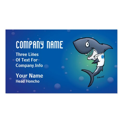 Shark Medical Healthcare Business Cards Business Card