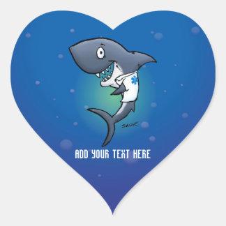 Shark Medical Healthcare Heart Stickers