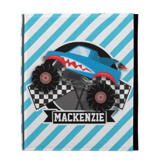 Shark Monster Truck; Checkered Flag; Blue Stripes iPad Folio Cases
