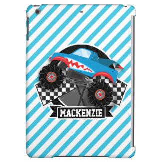 Shark Monster Truck; Checkered Flag; Blue Stripes iPad Air Cases