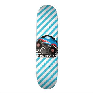 Shark Monster Truck; Checkered Flag; Blue Stripes Skate Decks