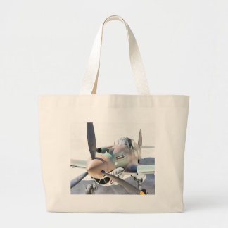 Shark Mouth Fighter Large Tote Bag