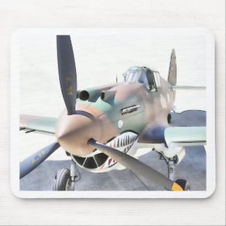 Shark Mouth Fighter Mouse Pad