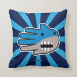 Hand shaped Shark mouth throw pillow