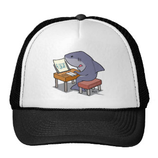 Shark music trucker hat
