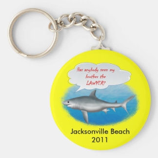 Shark- my brother the LAWYER Basic Round Button Keychain
