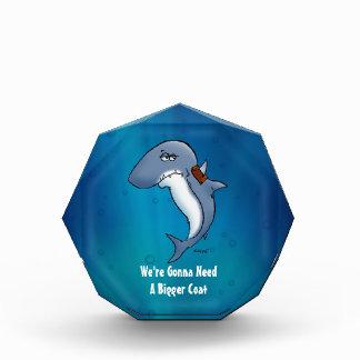 Shark Needs A Bigger Coat Funny Cartoon Award