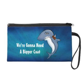 Shark Needs A Bigger Coat Funny Cartoon Bag