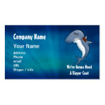 Shark Needs Bigger Coat Cartoon Business Car Double-Sided Standard Business Cards (Pack Of 100)