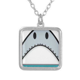Shark nose silver plated necklace