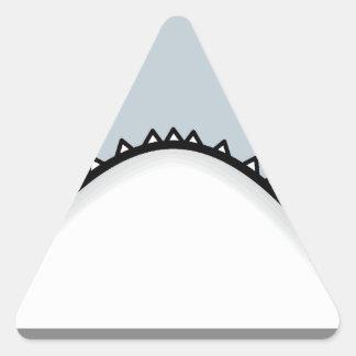 Shark nose triangle sticker