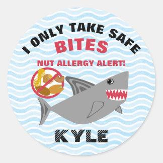 Shark Nut Allergy Alert Stickers