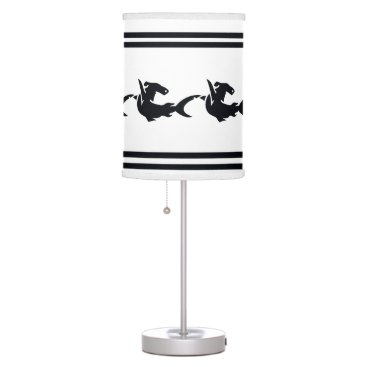 Beach Themed Shark on White background Desk Lamp