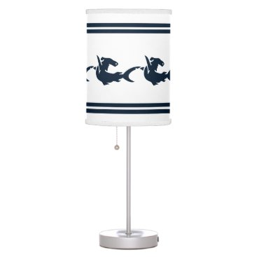 Beach Themed Shark on White background Table Lamp