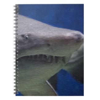 Shark painting. notebook
