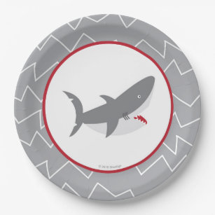 Shark Paper Plates  sc 1 st  Zazzle & Shark Birthday Party Supplies Gifts on Zazzle