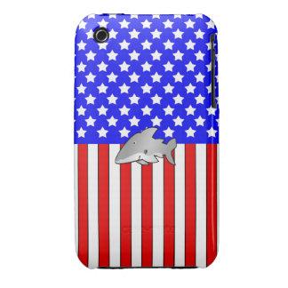 Shark patriotic pattern iPhone 3 covers