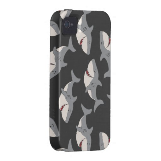 Shark Pattern Case Mate Iphone Barely There Case-Mate iPhone 4 Cases
