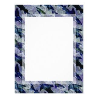 Shark Pattern in Purple and Blue Letterhead