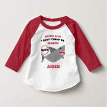 Shark Peanut Allergy Alert Cute Personalized T-Shirt