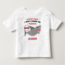 Shark Peanut Allergy Alert Cute Personalized Toddler T-shirt