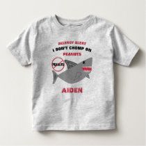 Shark Peanut Allergy Alert Personalized Kids Toddler T-shirt