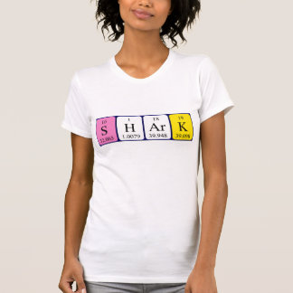 Shark periodic table word shirt